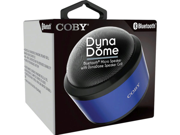 COBY Blue Dyna Dome Bluetooth Speaker
