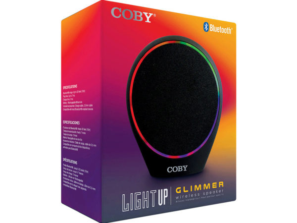 COBY Glimmer Light Up Bluetooth Speaker