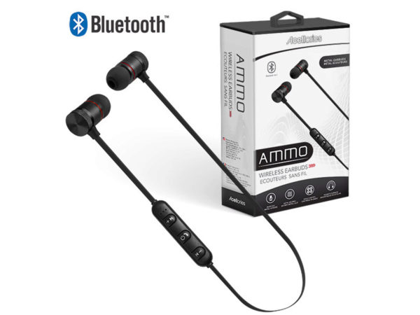 Acellories Ammo Black Wireless Bluetooth Earbuds