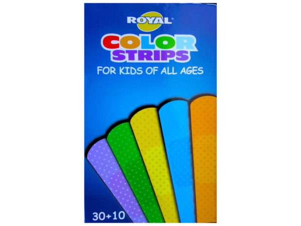 Assorted Colors 40 Count Kids Bandages