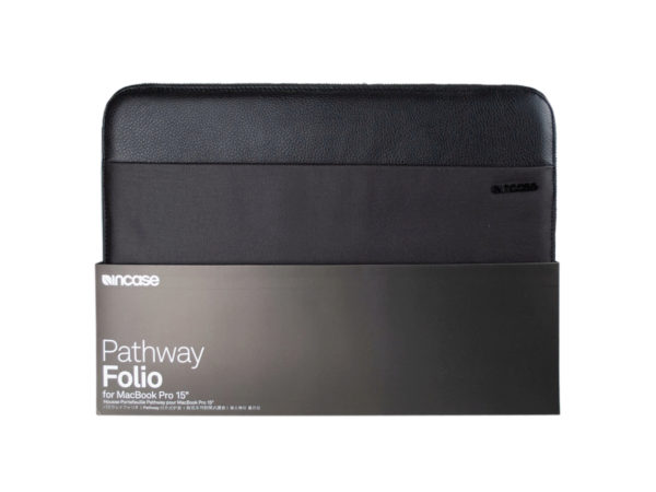 "Incase Black Pathway Folio 15"" MacBook Pro Laptop Sleeve"