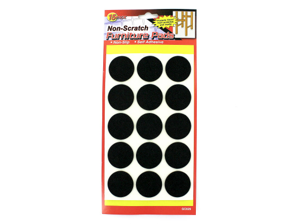 15 Pack non-scratch furniture pads