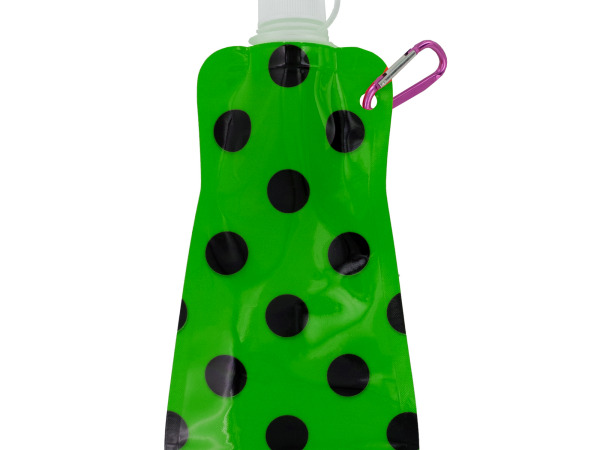 Green Polka Dot Reusable Water Bottle