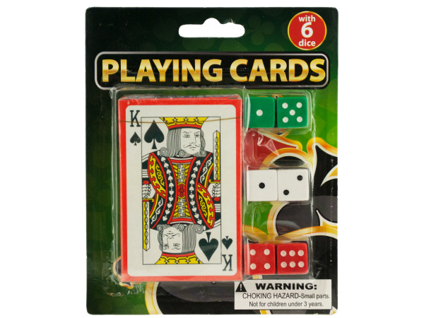 Casino Style Playing Cards with Dice