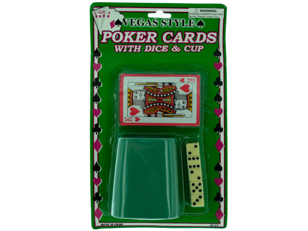 poker cards/cup/5 dice