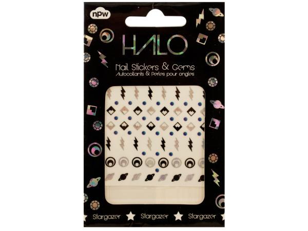 Stargazer Nail Stickers & Gems Set