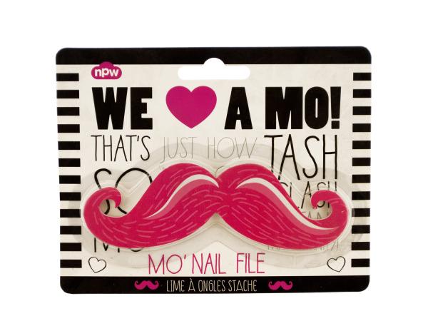 Pink Mustache Nail File