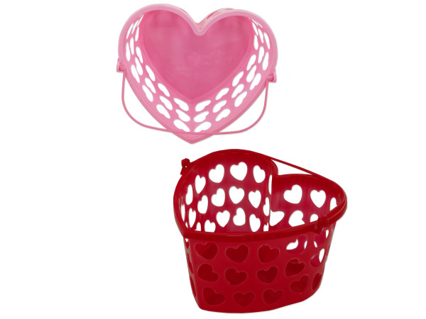 StarSun Depot Wholesale Heart Basket With Handle - Set of 48, [Home Decor, Baskets] at Sears.com