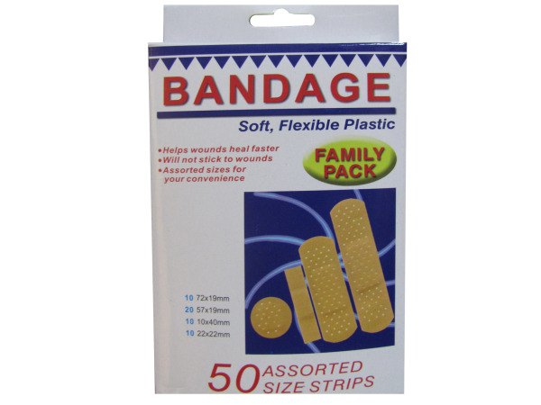 Family pack bandage strips