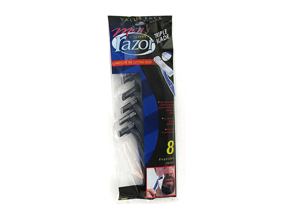 Men's triple blade disposable razors