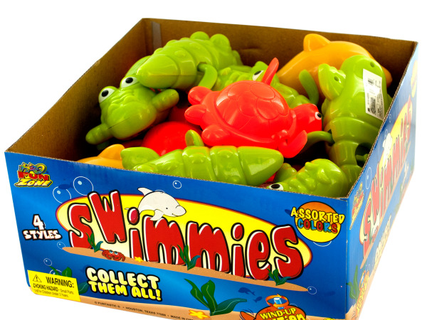 Swimmies Wind-Up Animal Toys Countertop Display