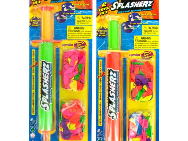 Splasherz 2 In 1 Water Blaster & Bomb Pump