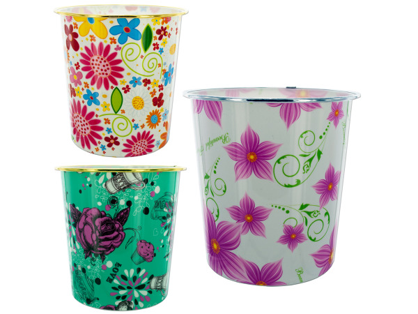StarSun Depot Wholesale Round Waste Basket - Set of 48, [Household Supplies, Trash Containers]