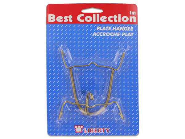 Gold plate hanger