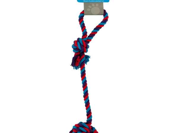 Dog Rope Toy with Knotted Ball