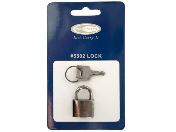 Silver Luggage Lock with Keys