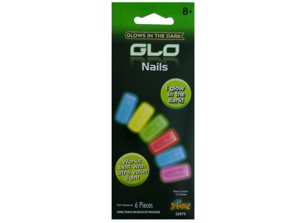 6pc glow in dark nails