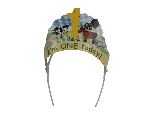 """I'm One Today"" Head Wear"