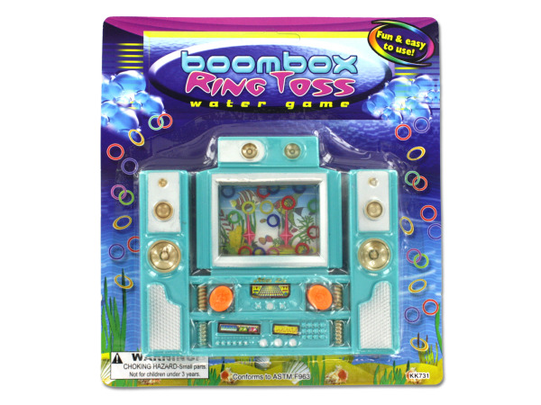 Boom box ring toss game