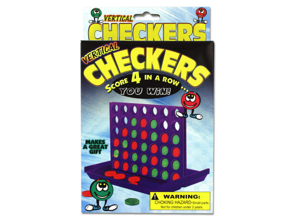 Vertical Checkers Travel Game