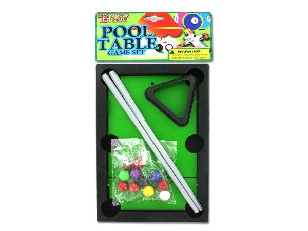 Pool table game set