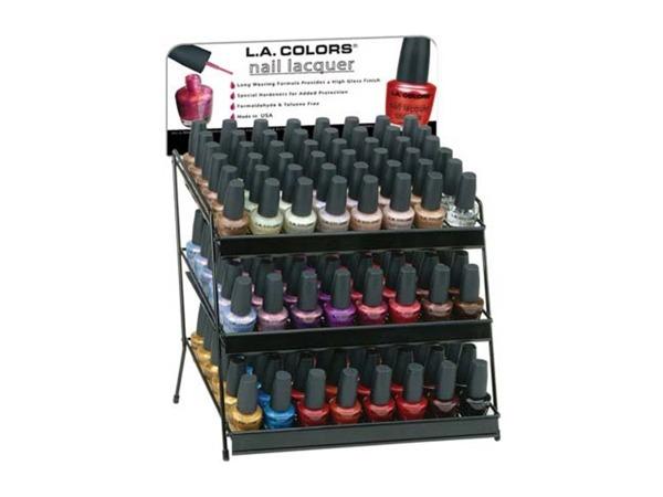 nail polish display assorted colors