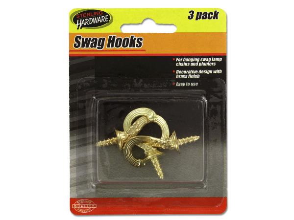 Decorative swag hooks