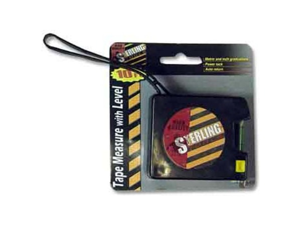 10 Foot tape measure with level