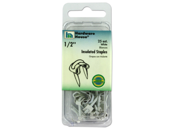 StarSun Depot Wholesale White Insulated Staples, Pack Of 25 - Set of 80, [Hardware, Industrial Fasteners]