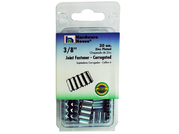 Zinc-Plated Corrugated Joint Fasteners