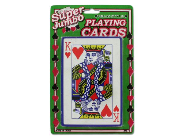 Jumbo playing card deck