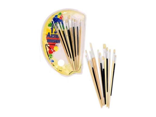 13 Piece artist brush set