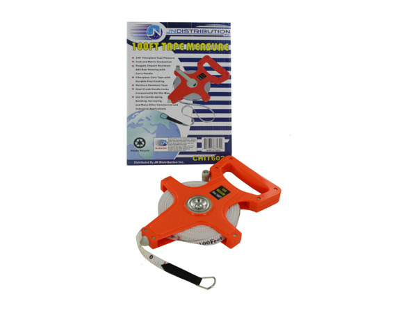 100' tape measure with carry handle