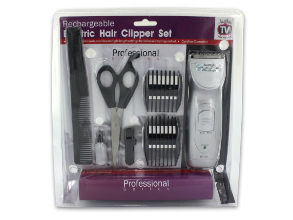 Wholesale Set of 1 Rechargeable Hair Clipper Set (Hair Care Electric Hair Trimmers)