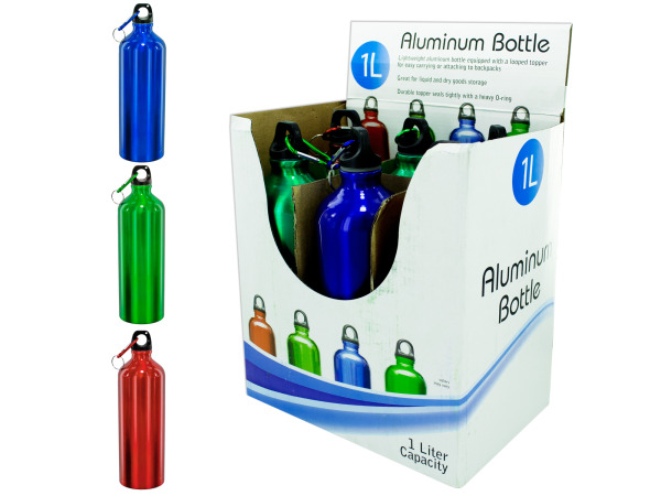 1 Liter Aluminum Bottle Countertop Display
