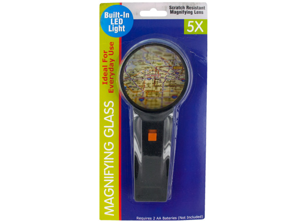 Sea Of Diamonds Wholesale Set of 18, Light-Up 5X Magnifying Glass (School & Office Supplies, Magnifying Glasses), $5.46/set delivered