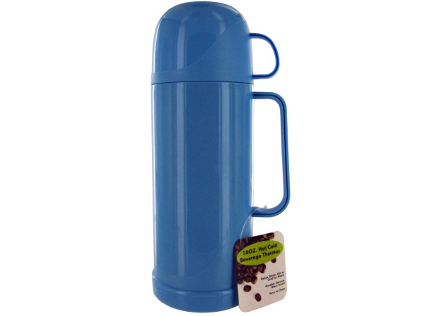 16 Ounce Hot/Cold Beverage Thermos Bottle