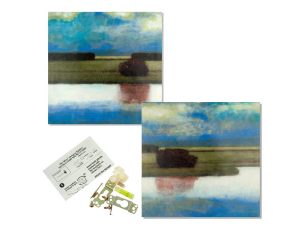 "StarSun Depot Wholesale 16"" X 16"" Crystal Bay Landscape Wrap Canvas Art - Set of 4, [Home Decor, Wall Decor] at Sears.com"