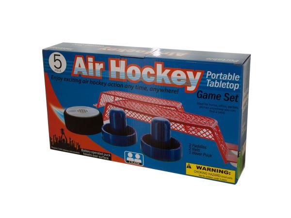 Portable Tabletop Air Hockey Game Set