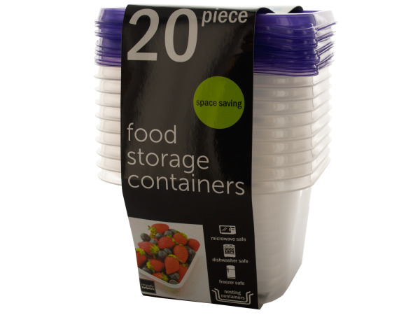 SOD Wholesale Set of 4, Square Food Storage Containers Set (Kitchen & Dining, Food Storage)