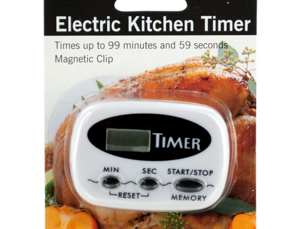 Electric Kitchen Timer with Magnetic Clip