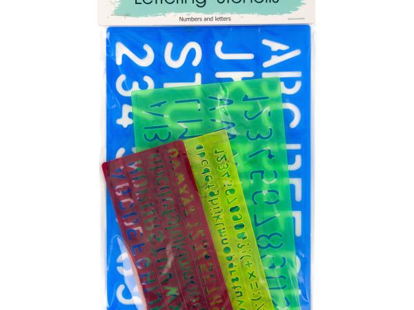 Number & Letter Stencils Set