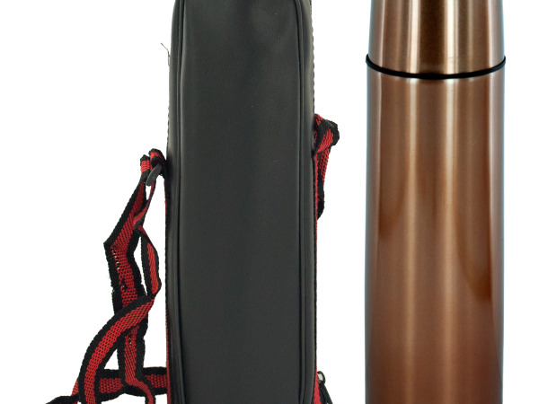 Copper Double Wall Vacuum Flask with Carrying Case