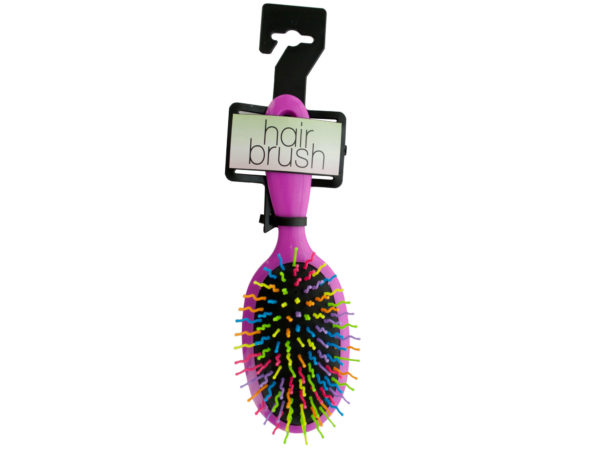 Rainbow Oval Paddle Hair Brush