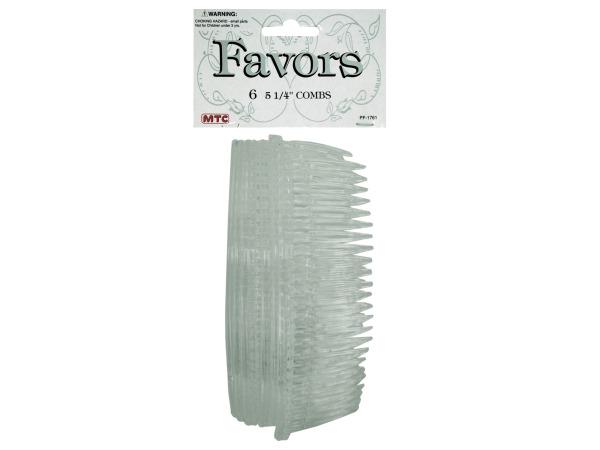 """6pk 5.25"""" hair combs"""