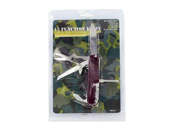 13 function hiking knife