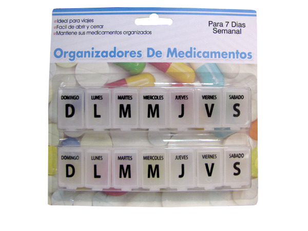 7-Day Spanish Language Pill Case