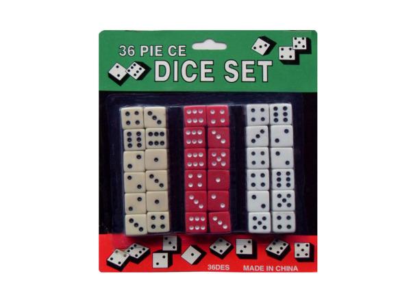 Dice set, 36 pieces