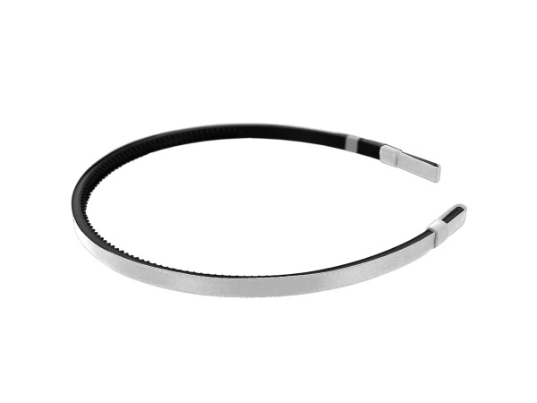 simplicity 1/4 inch white satin headband