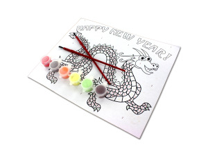 Paint-By-Number Chinese Dragon Craft Kit